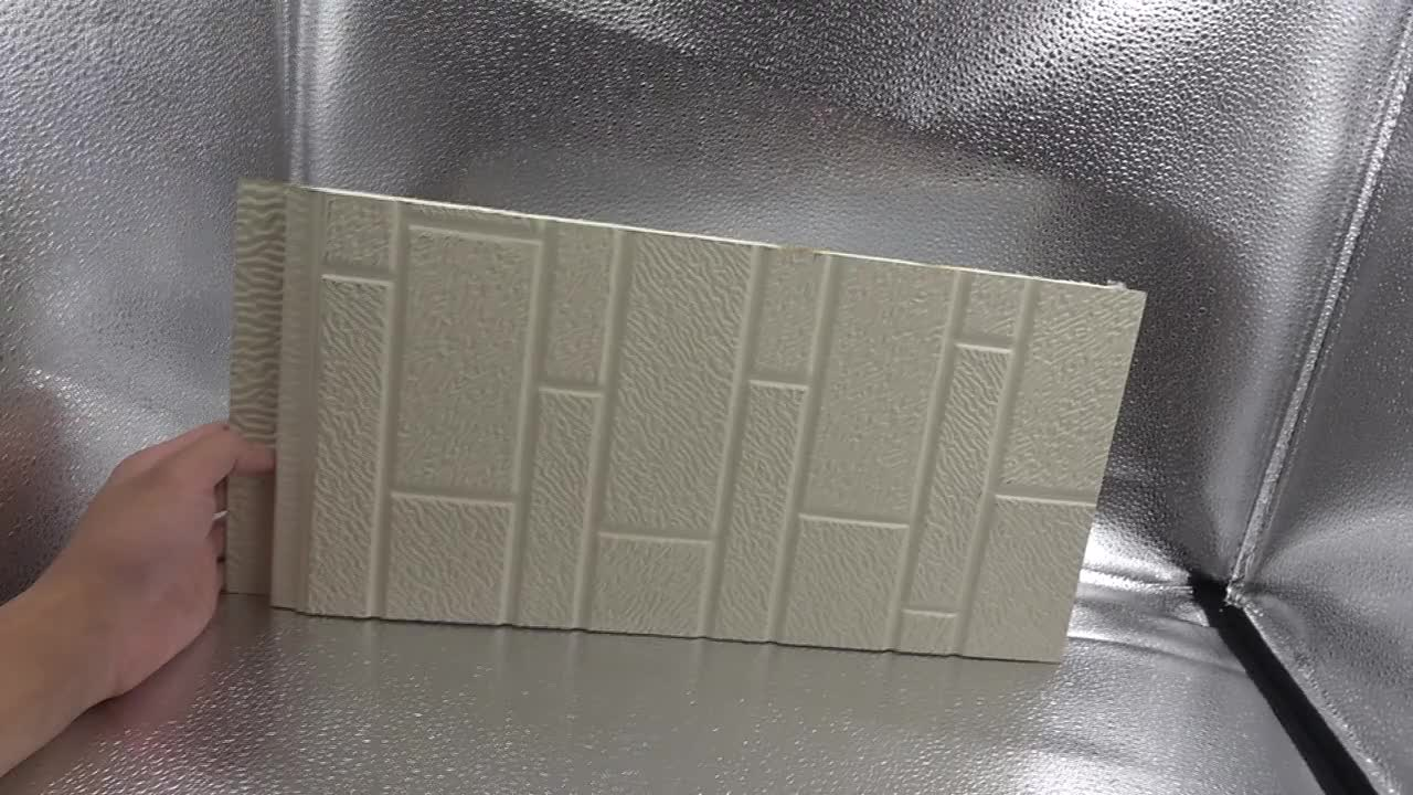 Metal carved Insulated Sandwich Panel