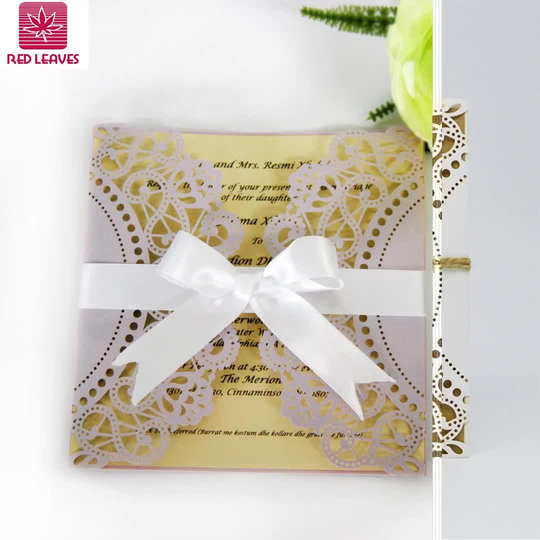 2018 Son tasarım düğün davetiyesi kartı doğum günü tebrik kartları lazer kesim