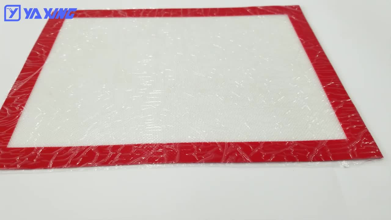 Manufacturer supply heat resistant custom non stick silicone baking mat for oven mat
