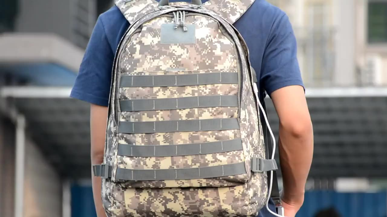 Camouflage army tactical bag camping vintage hiking backpack china