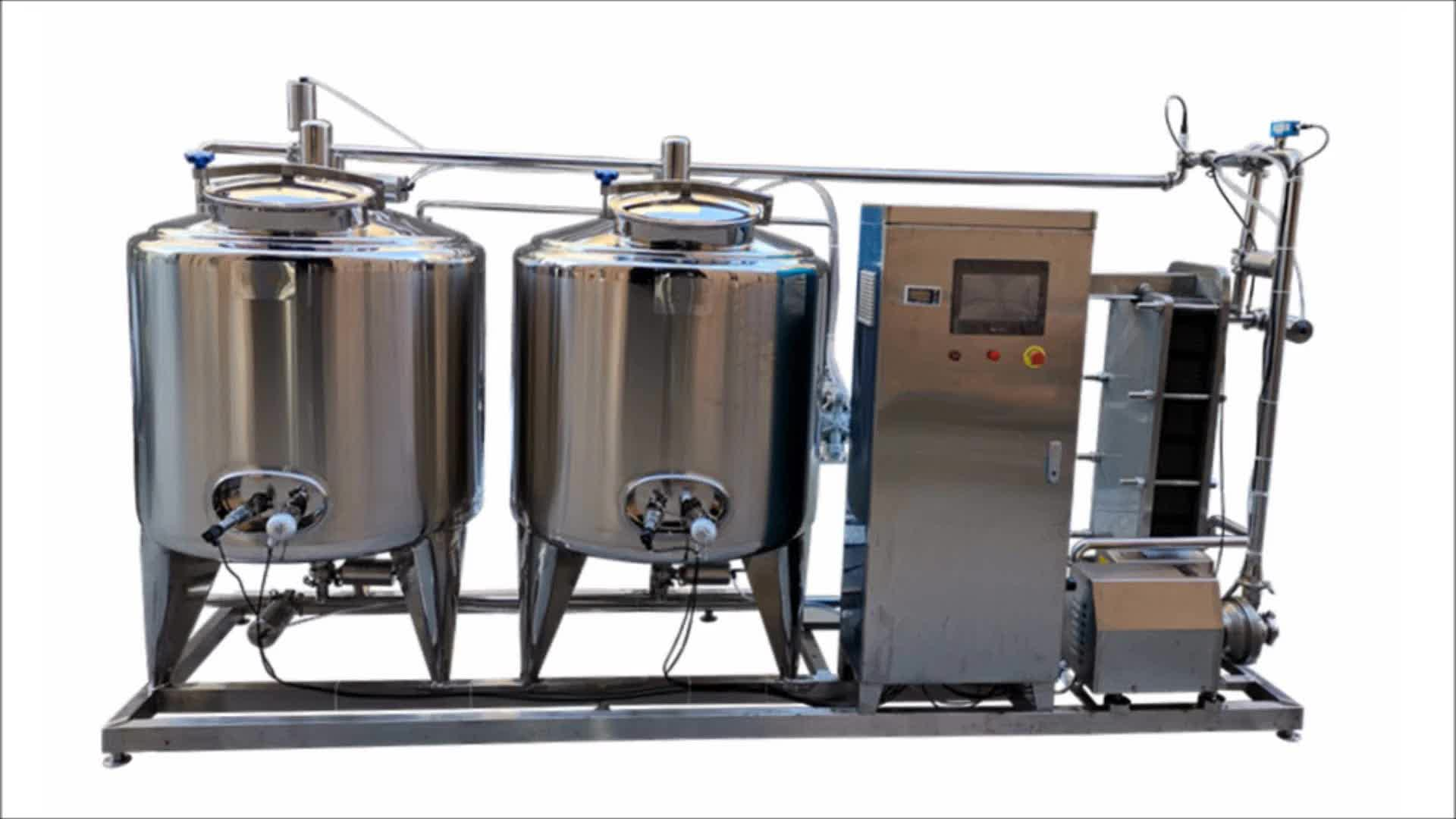 Dairy juice beverage sauce milk automatic cip clean in place system