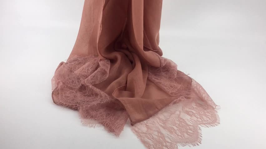 Solid Color  Cotton Lace Scarf Plain Nice Floral Shawls Lady Pashmina Can Choose Color Oversized Hijab
