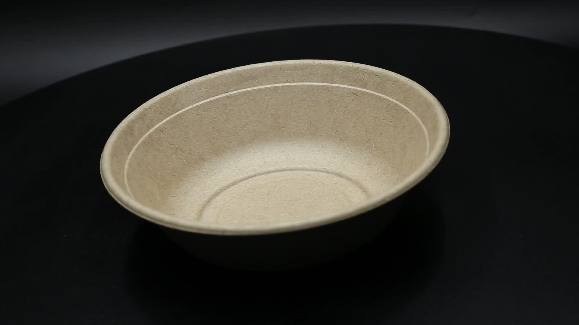 disposable biodegradable salad bowl bagasse bowl with lid