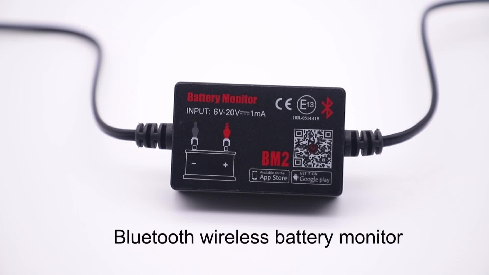 मिनी स्मार्ट मोटर वाहन ब्लूटूथ वाहन बैटरी मॉनिटर bm2 कार ब्लूटूथ परीक्षक बैटरी कार