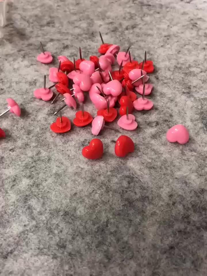 50 ชิ้น / เซ็ตน่ารักหัวใจสีชมพูเข็มหมุดจัดส่งฟรี