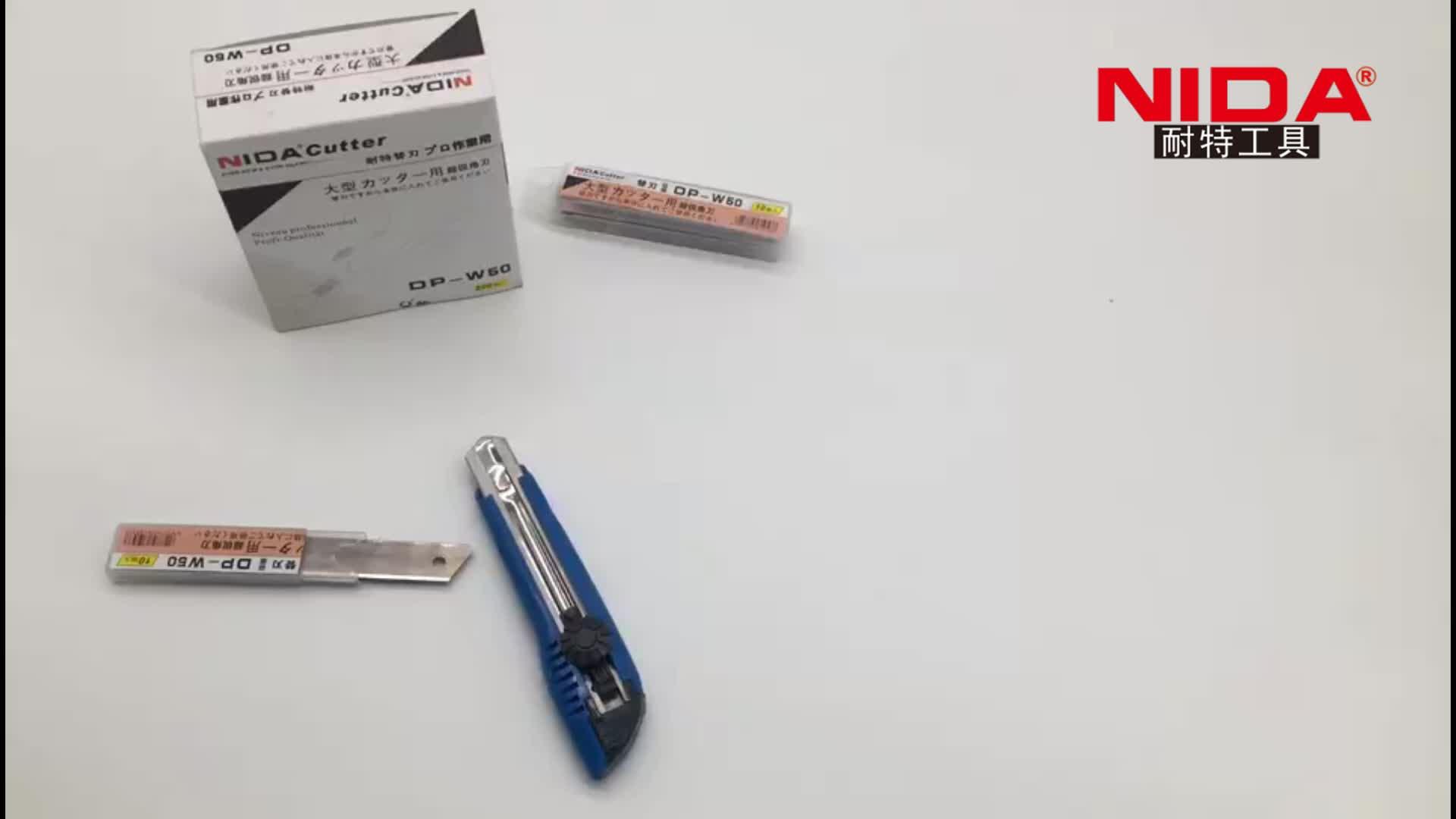 Nida Hongxin karbon çelik SK2 SK5 SK7 kutu kesici bıçak 18mm çırpıda bıçak yardımcı bıçak