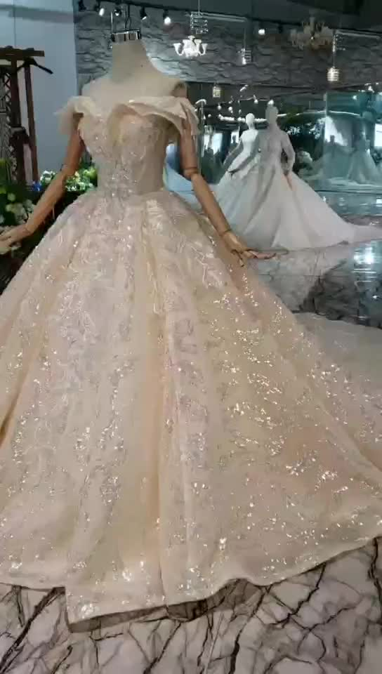 Jancember HTL309 2019 sexy off shoulder crystal luxury clothing suppliers china wedding dress bridal gown