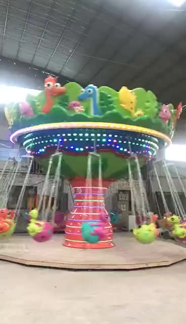 Fun Fair Attractions Amusement Park Rides  Dinosaur Swing Flying Chair For Sale