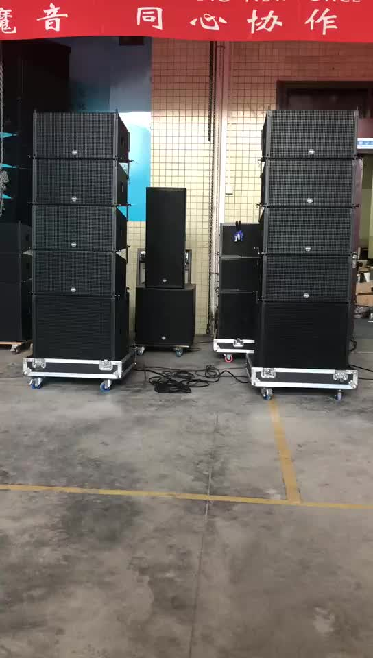 Active Audio Line Array Speaker Sound System with powered subwoofer build in amplifier module for outdoor live music party