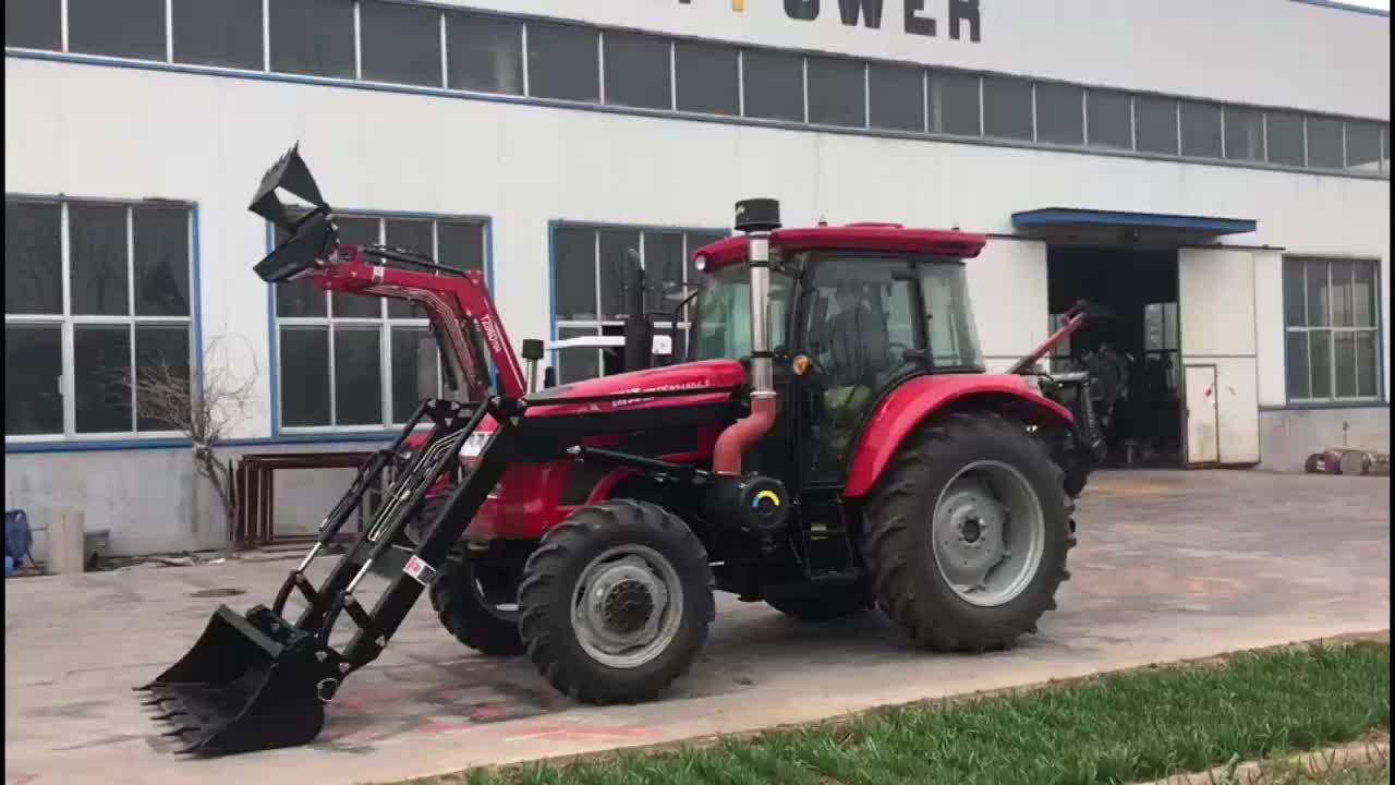 Trung quốc nhà máy 1004 nông nghiệp máy kéo 100hp trang trại máy kéo kết thúc trước loader