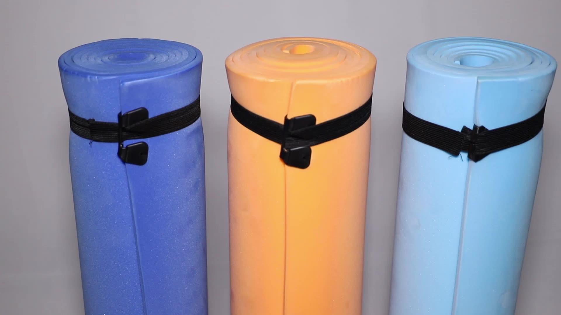 عالية الجودة الكثافة في الهواء الطلق حصيرة جمنازيوم تصنيع مقاوم للماء المضادة للانزلاق اليوغا لفة سجاد
