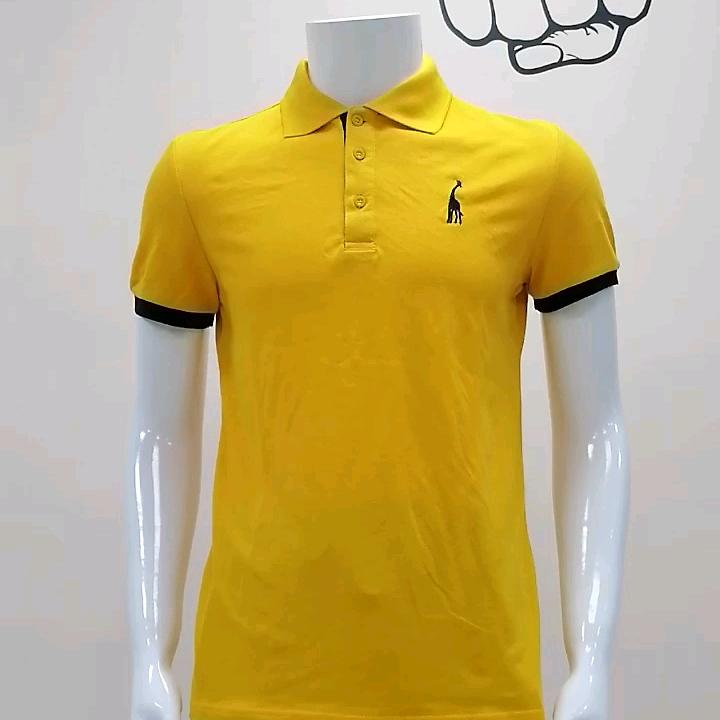 Aggiornamento Del Prodotto Uomo Manica Corta Camicia di Polo su Misura Logo 100% Cotone Della Camicia di Polo
