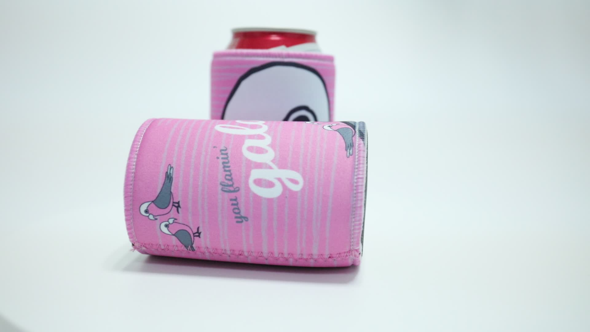 Custom Portable Insulated Neoprene Can Cooler Bag Cup Sleeve With Printing your logo