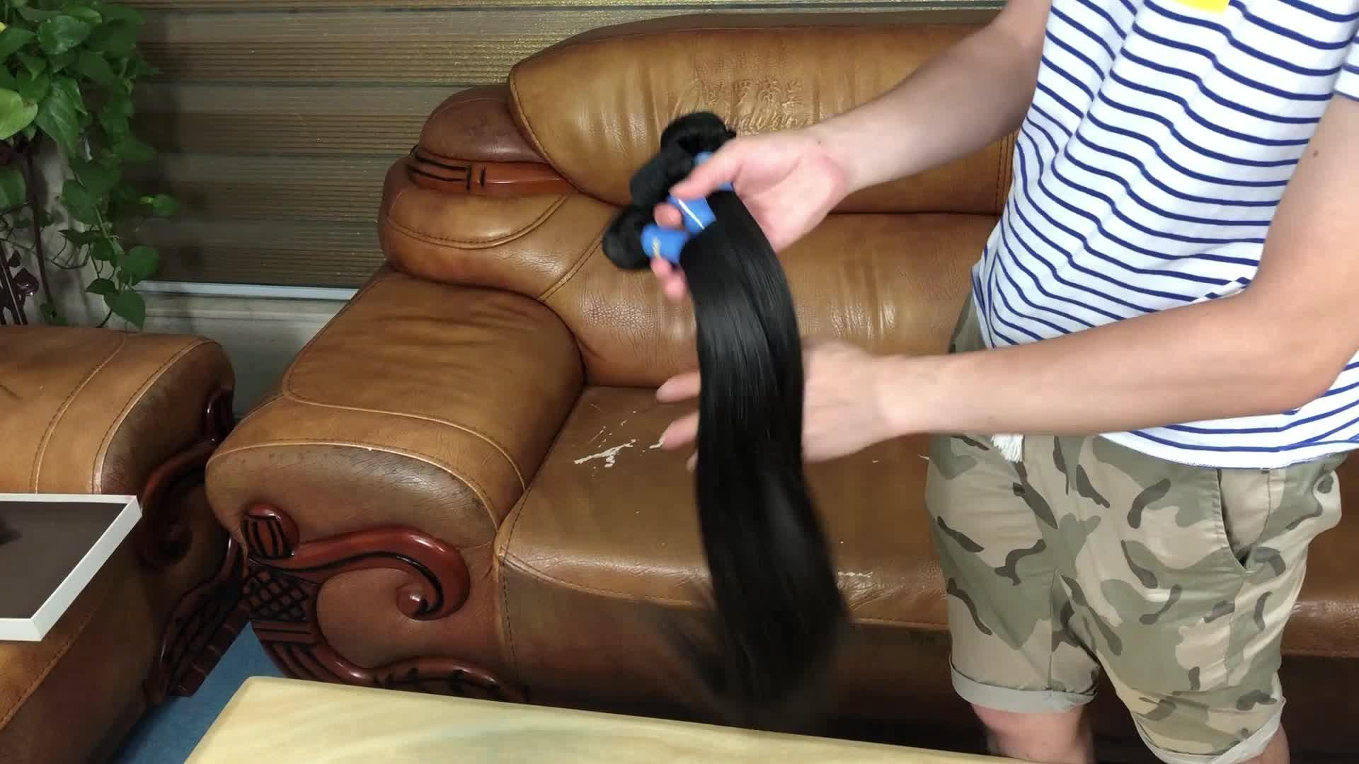 JP groothandel 8a grade virgin braziliaanse haar bundel, dubbel getrokken haar maagdelijke braziliaanse haar, nertsen braziliaanse haar maagdelijke