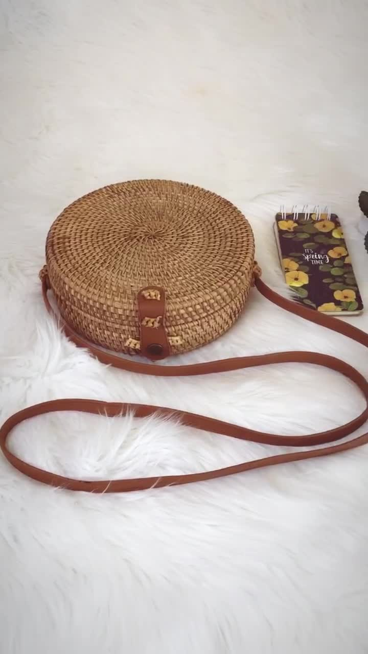 Various colors of high quality rattan woven bag made in Vietnam wholesale
