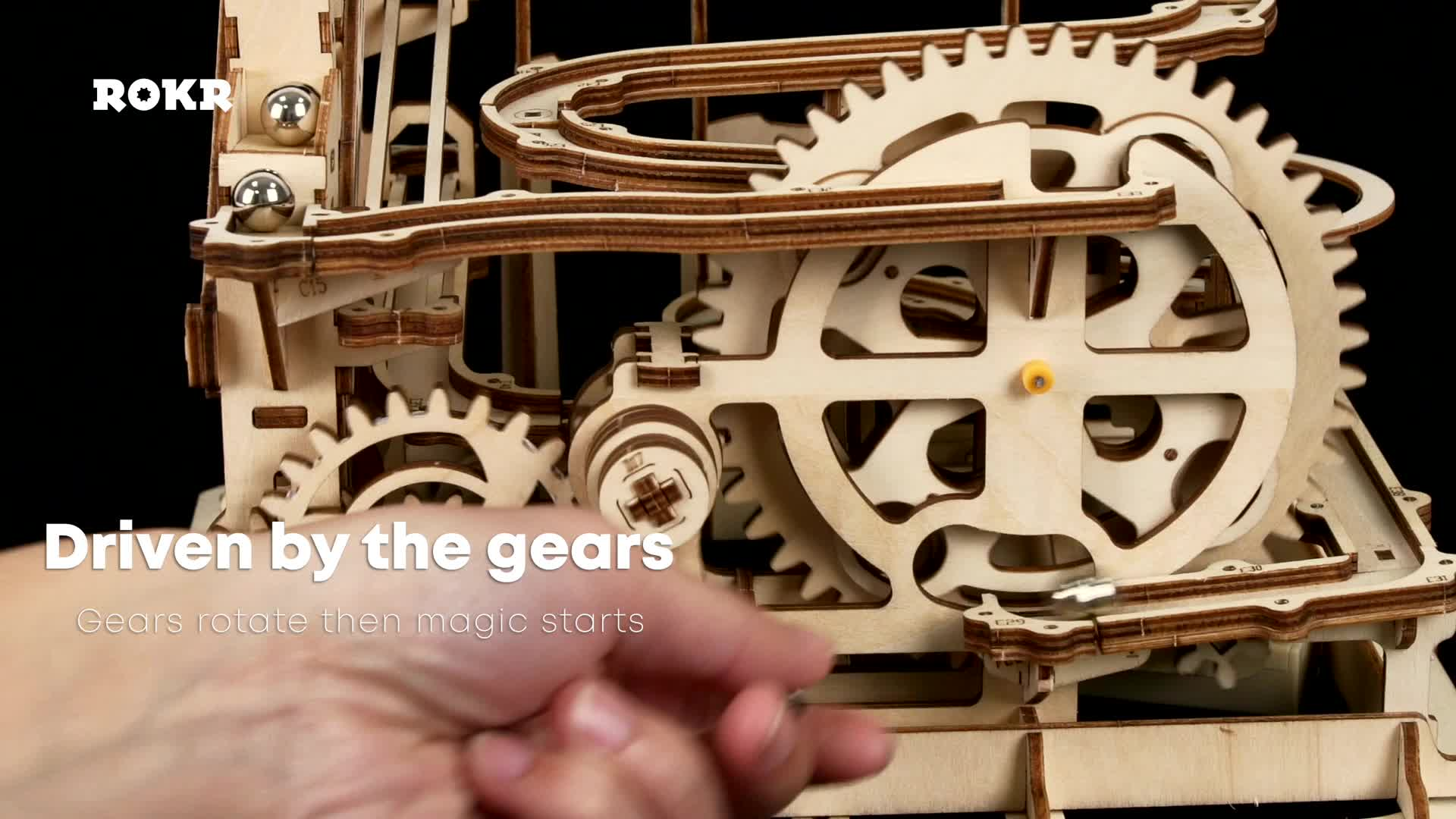 Toy Factory DIY Toy Gift Laser Cut Marble Run 3D Wooden Puzzle