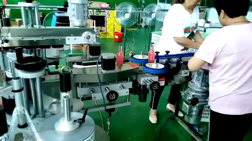 Round Bottle automatic Labelling Machine with Code Printer