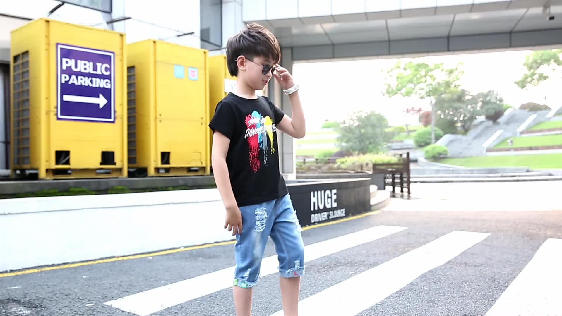 Witte Top Kids Jongen Kleding 2 Stuk Pak Wit T-Shirt Jeans Jongen Jongens Kleding Outfit T-shirt Sets Kleding