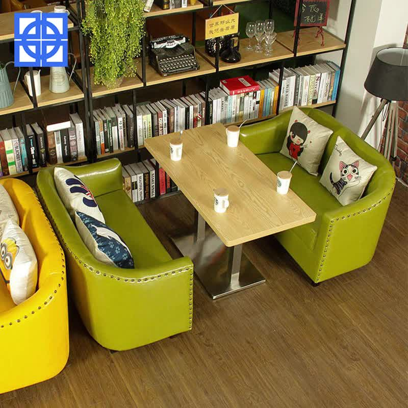 American Style Modern Cheap Solid Wood Coffee Shop