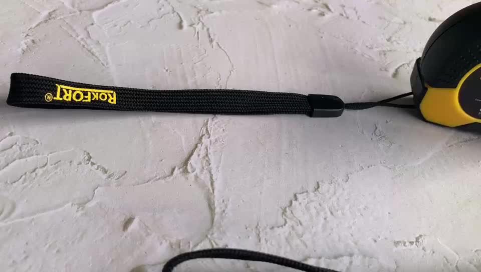 Rokfort 3m 5m 7.5m ABS plastic stainless steel meter tape measure with Nylon hanger