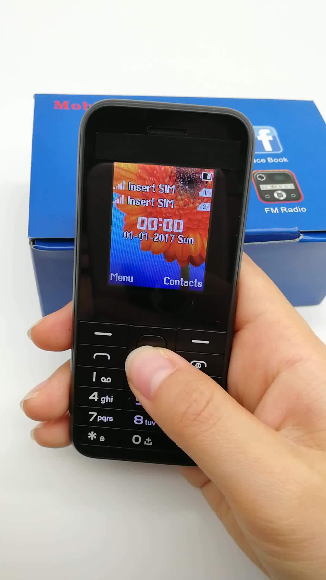Quad-Band Dual-Karte Dual-Standby-Blu-Handy-Unterstützung WhatsApp Großhandel gebrauchte Telefon 2040