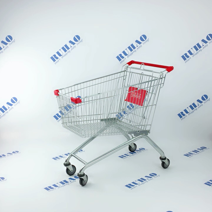 80L metal shopping cart with cheap price RH-SE080 for European market