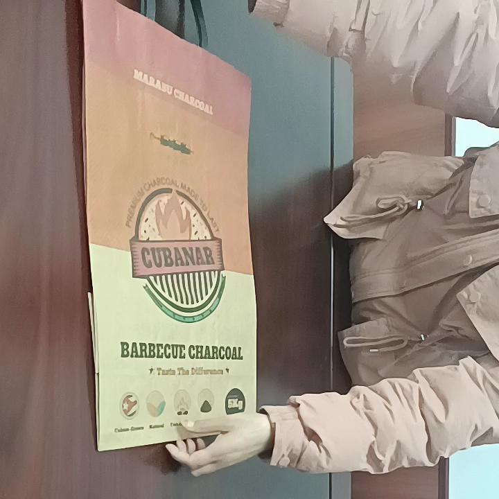 木炭練炭クラフト紙袋バーベキュー炭グリル用8ポンド3.6kg包装袋