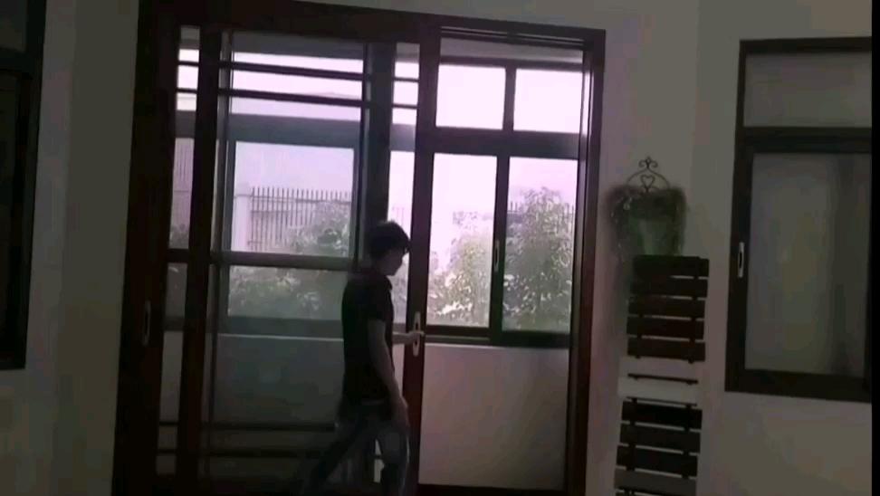 Vuelos de aluminio con puerta corredera de la puerta mosquitera