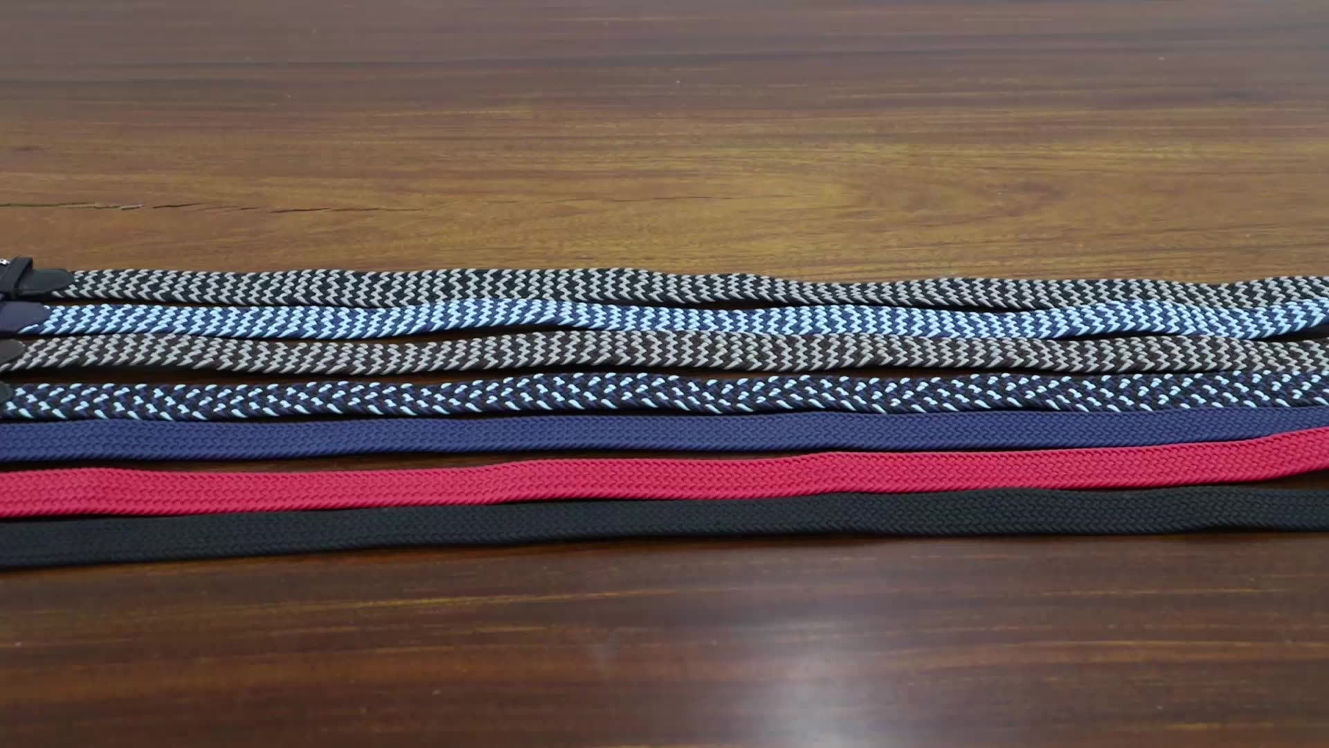 Factory Price Mutil  Color Stretch Elastic Fabric Woven  Belts For Men With Material Buckle