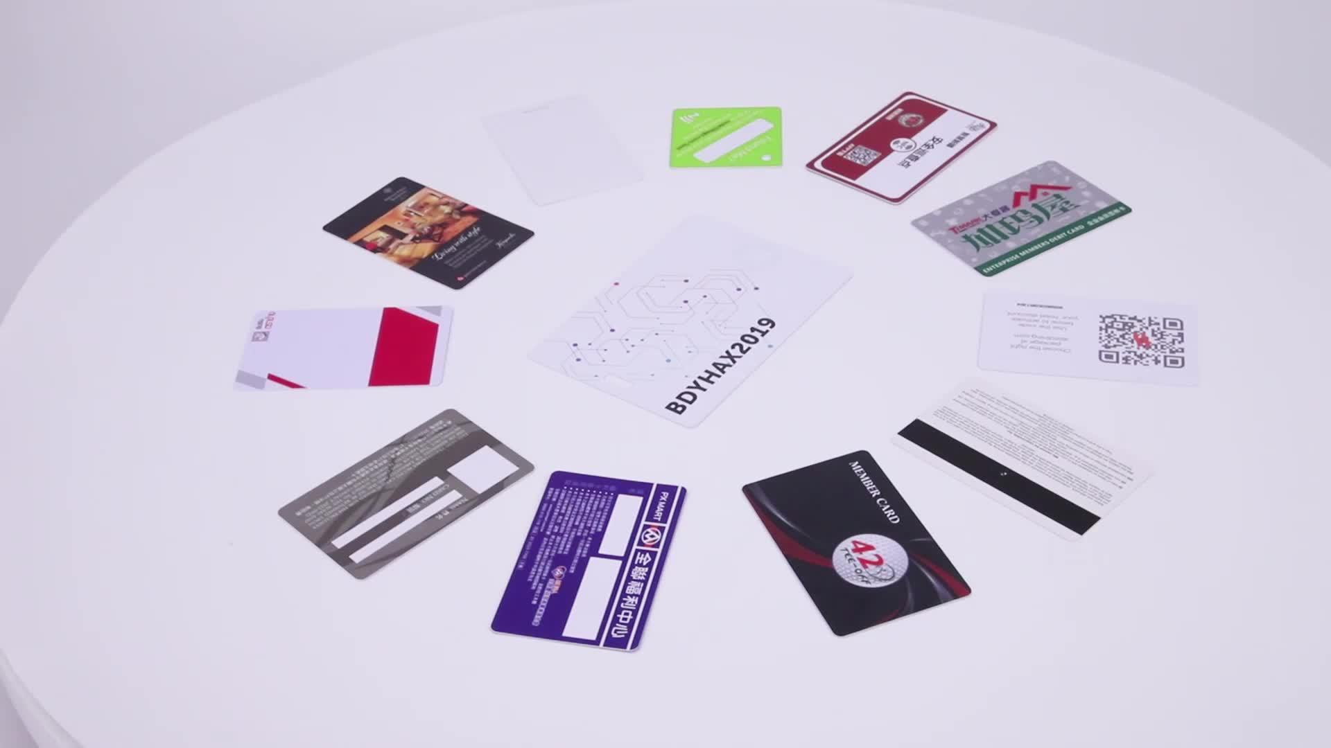 Cartão de visita em branco nfc impressão personalizada