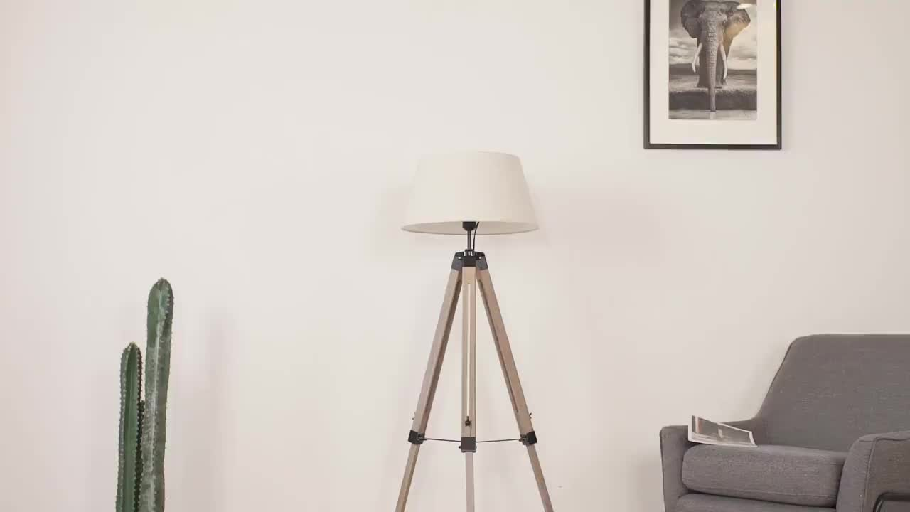 Mounting Wood Floor Lamp For Decoration