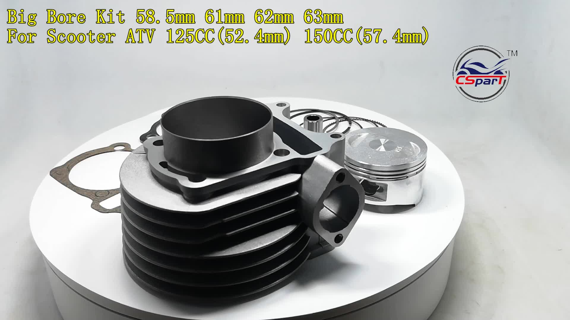Performance GY6 58.5mm 61mm  Cylinder Piston Ring Big bore Kit For 125CC 150CC ATV Quad Scooter Buggy