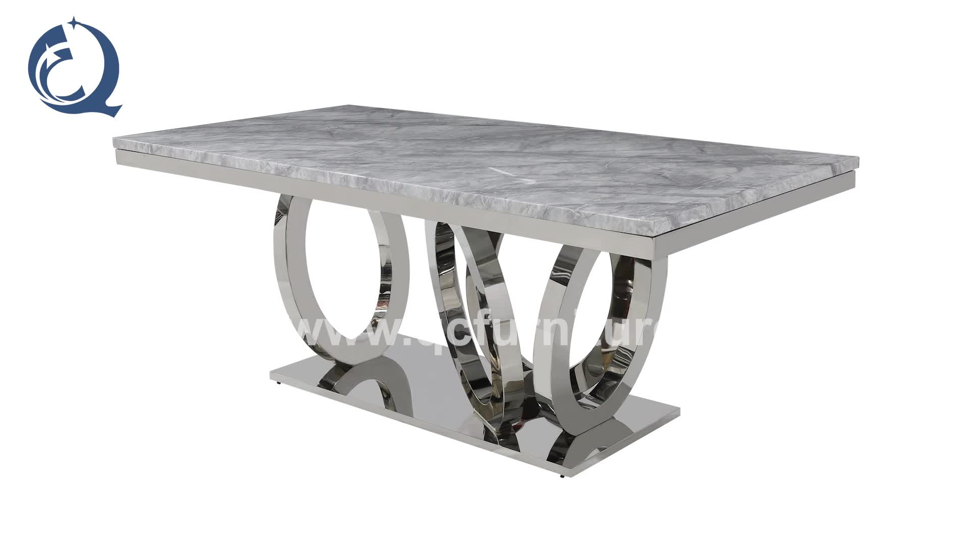 new design golden imported marble restaurant dining table 10 seater