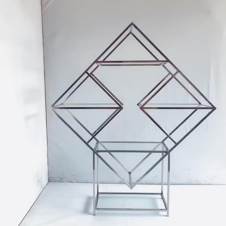Stainless steel wine rack display shelf for sale