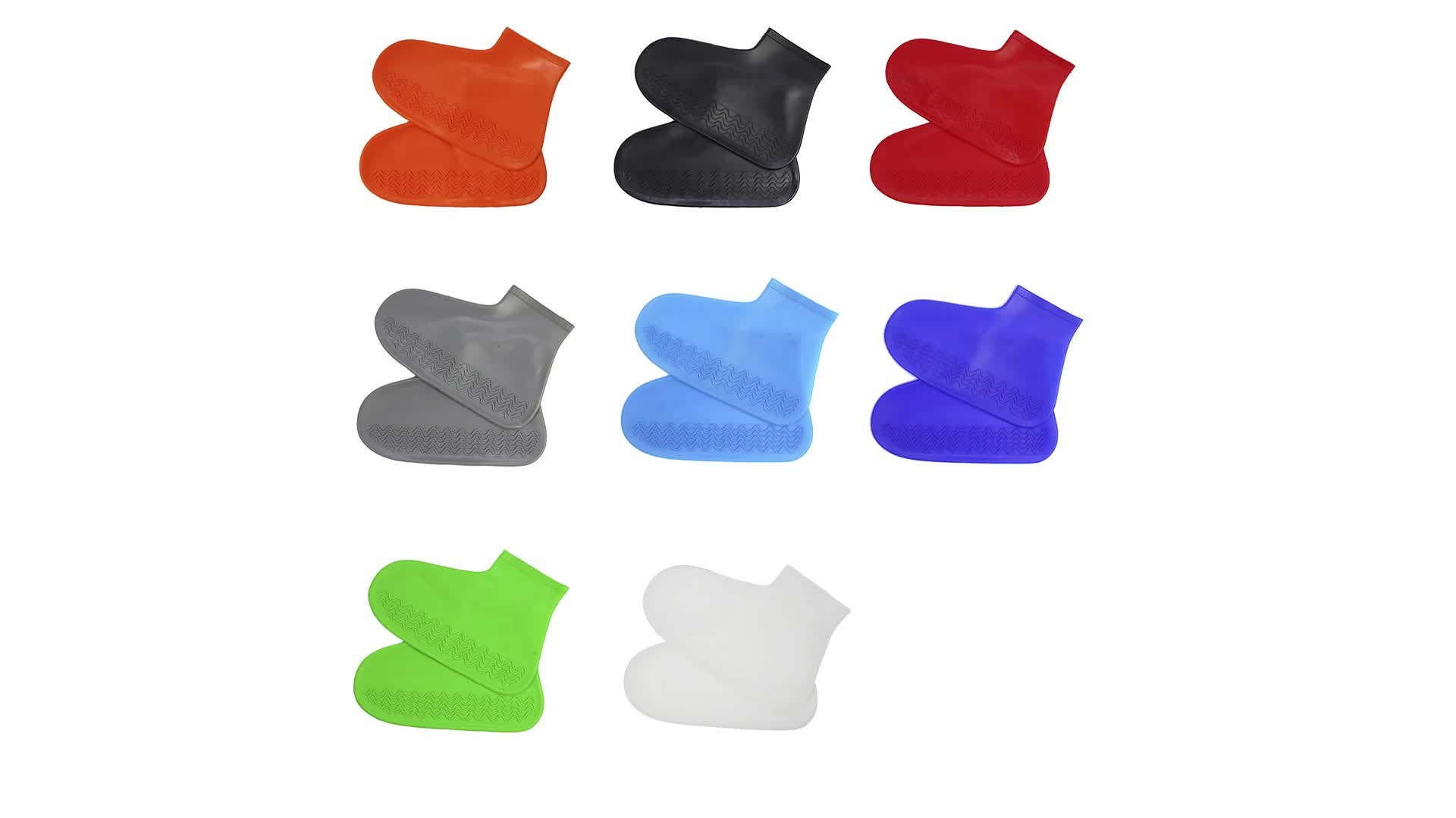 Di plastica del Silicone del pattino pioggia copre riutilizzabile copertura di scarpe per le scarpe di sicurezza copertura della pioggia impermeabile