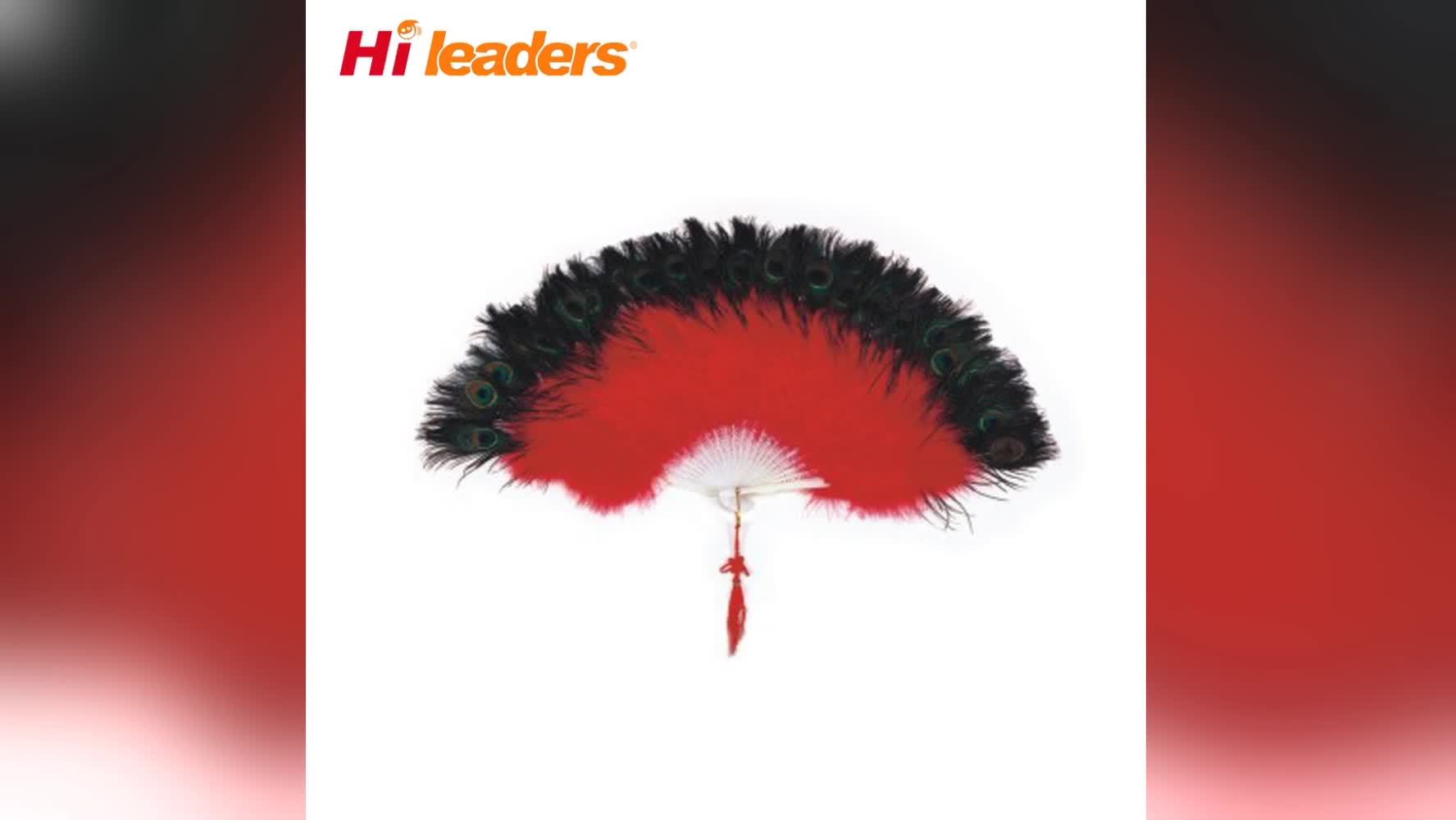 High Quality Single Layer Dancing Ostrich Feather Fan