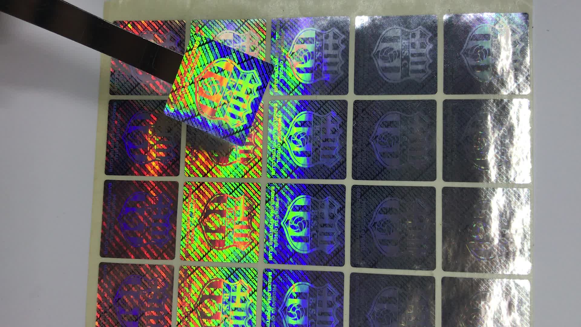 Customized Logo Hologram Sticker with Serial Number,Custom 3d hologram stickers with serial numbers