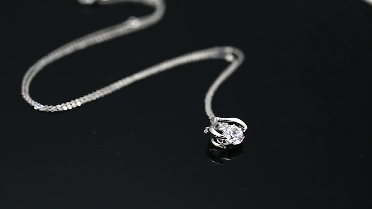 44703 Xuping кулон ожерелье ювелирные изделия, изготовленные на заказ ожерелье со стразами модные женские туфли ювелирные изделия, покрытого родием популярные камень ювелирные изделия ожерелья