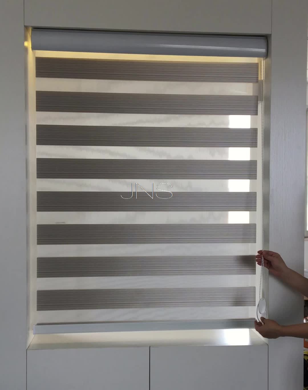 Stardeco home decor day and night shadow zebra blinds fabric window blind