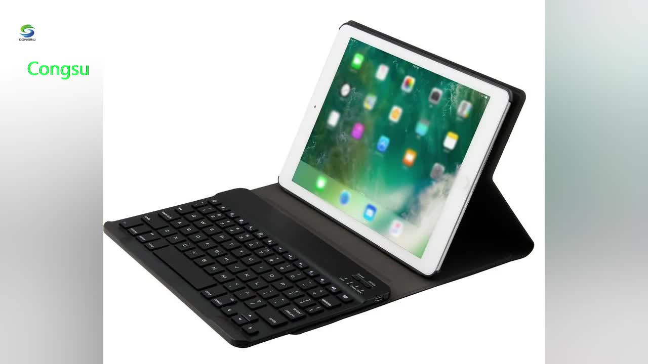 9.7 Keyboard Case Auto Sleep Wake with Built in Stand for iPad Pro