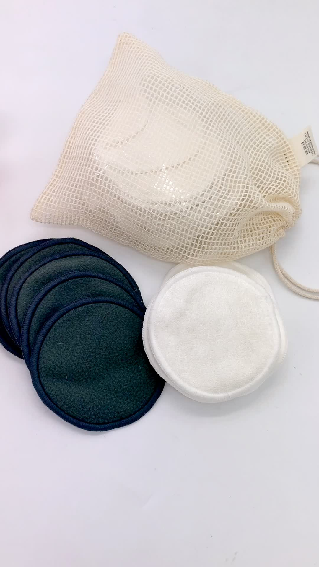 magic Reusable bamboo cotton make up remover pad washable With Laundry Bag