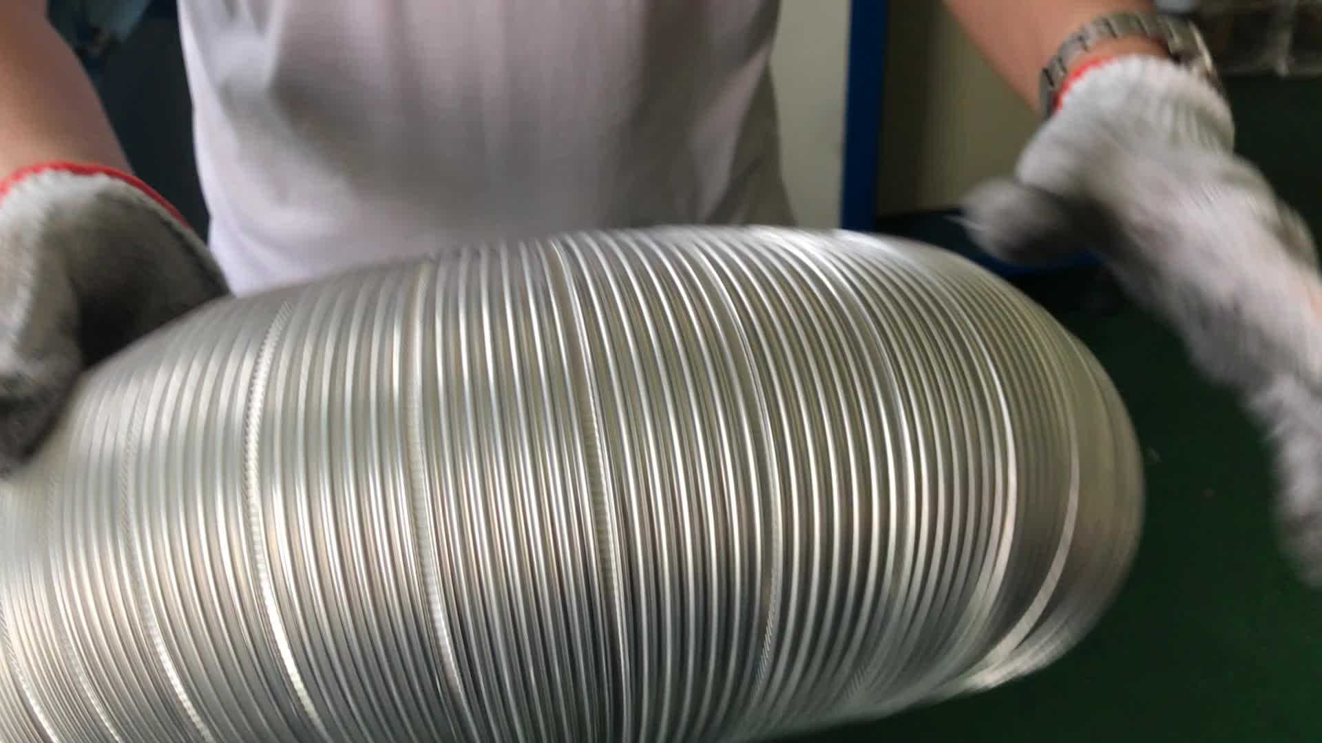 HVAC spiral aluminum foil wire round flexible duct making machine for cook hooder