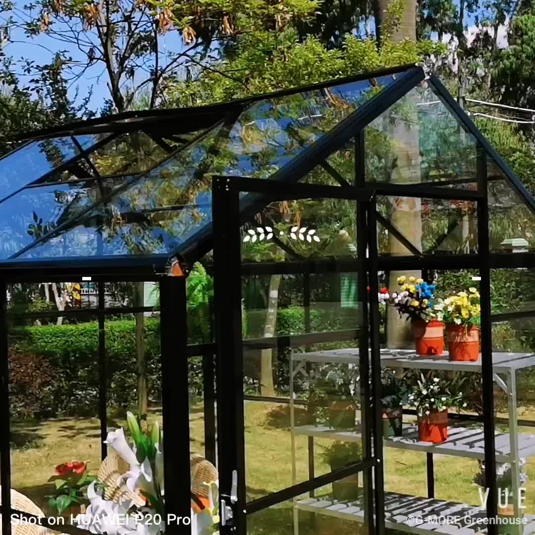 G-MORE DIY Aluminum Framed Glasshouse 8'x8' / Low Cost Greenhouse