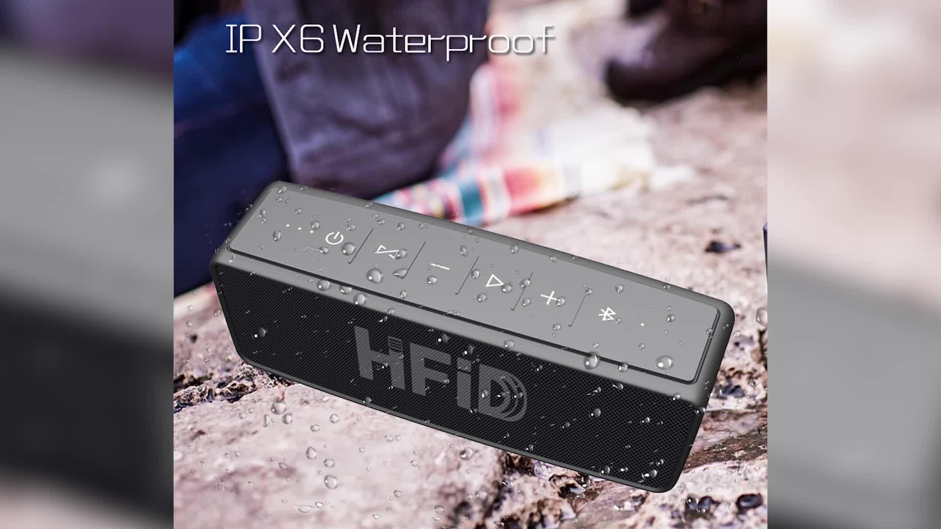 Sıcak satış mini taşınabilir 15 W su geçirmez ev IPX6 kablosuz hoparlör