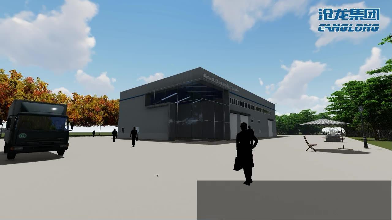 Disegno ad arco del tetto prefabbricata struttura in acciaio leggero per il carbone di stoccaggio di costruzione di costruzione