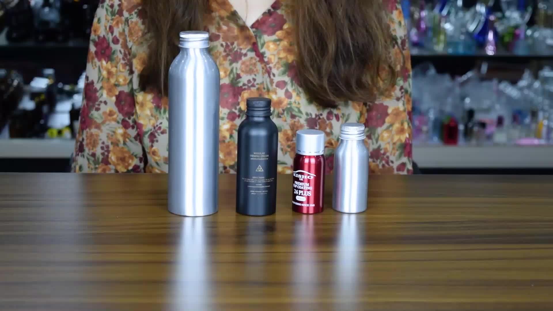 new products 150ml logo silk printing custom aluminum sports bottle water aluminum bottle china supplier