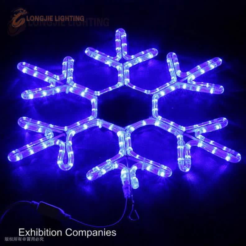 led snowflake lights flashing color changing rope light christmas snowflake for wall or street. Black Bedroom Furniture Sets. Home Design Ideas