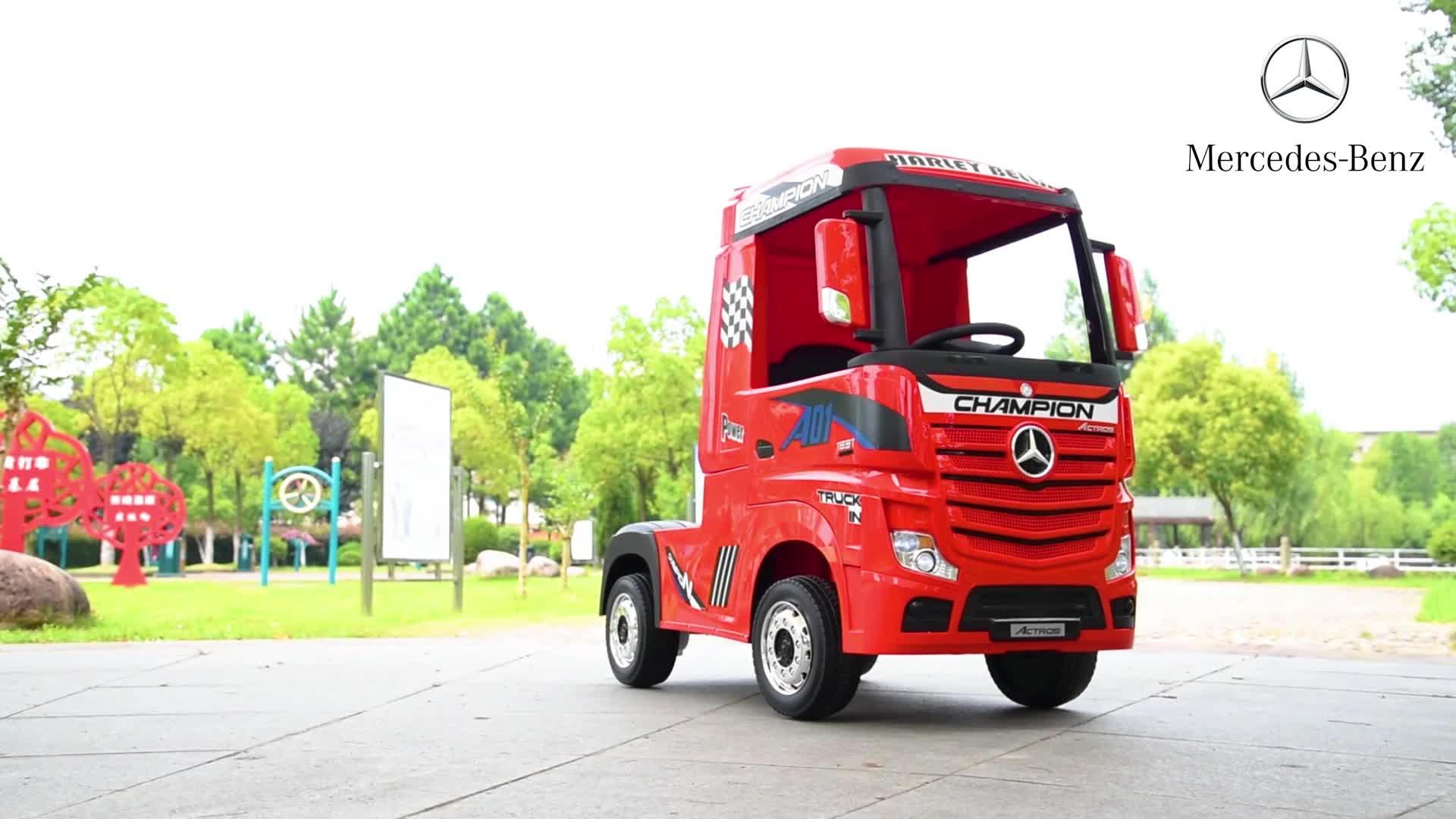 2020 licenciado mercedes benz caminhão bateria crianças carro operado a bateria carro em carros carro elétrico infantil
