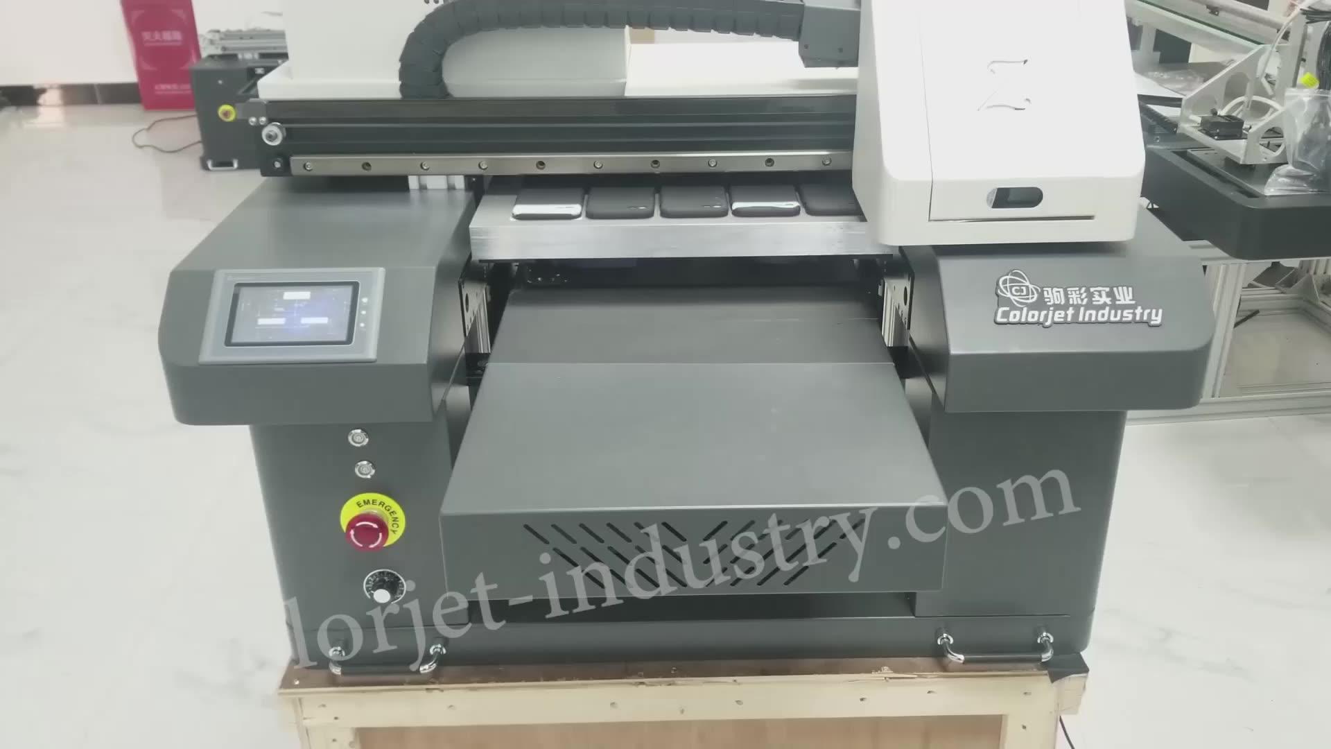 Cj Fabriek Supply A2 Flatbed Uv Printer Voor Custom Vernis Telefoon Case Braille Printers Uv
