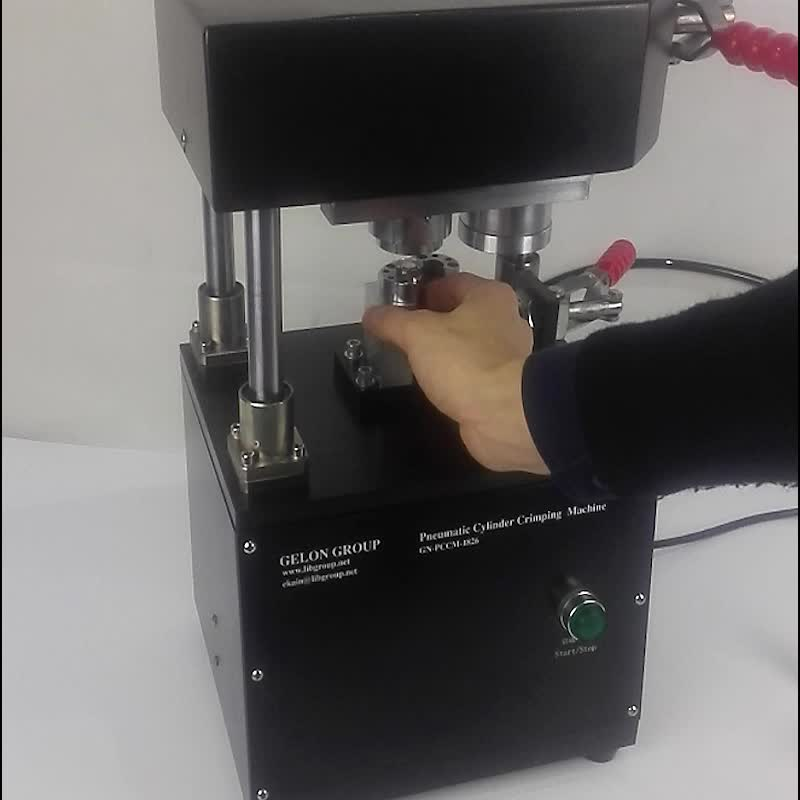 Compact & Fast Gas Driven Crimper for CR20XX Series Coin Cells, Clean Room & Ar Glove Box Compatible - GN--PCCM-1862
